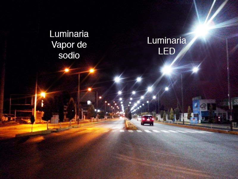 LED vs Vapor de Sodio