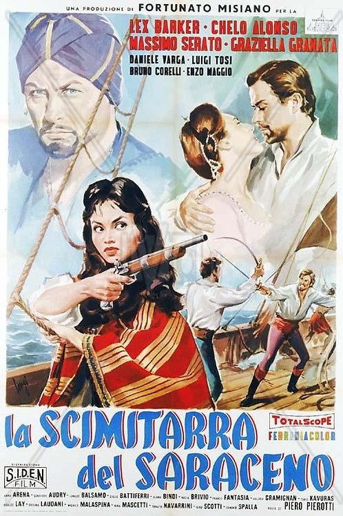 CORSÁRIOS SARRACENOS (La Scimitarra del Saraceno, 1959) DVD legendado