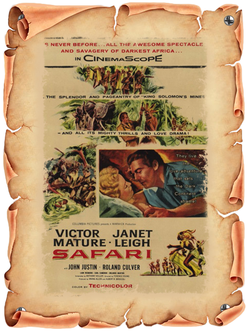 A MORTE ESPREITA NA FLORESTA (Safari, 1956)