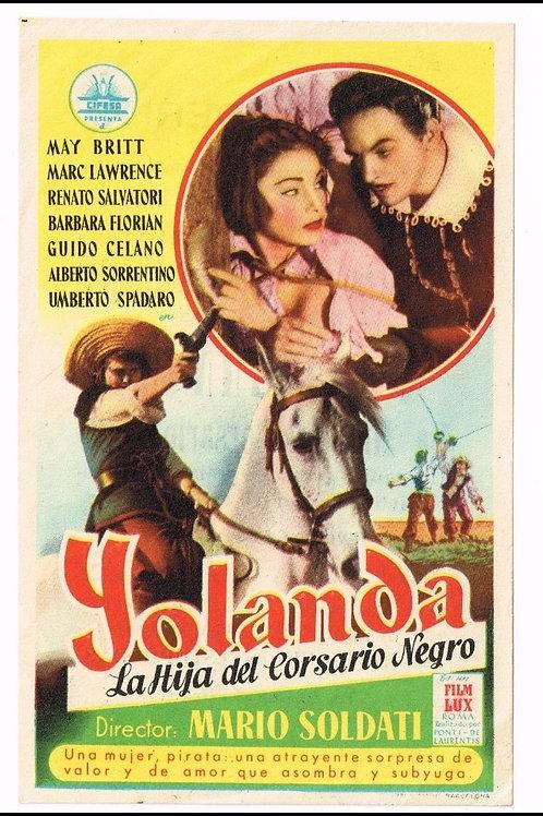IOLANDA, A FILHA DO CORSÁRIO NEGRO (Jolanda la figlia del corsaro nero, 1953)