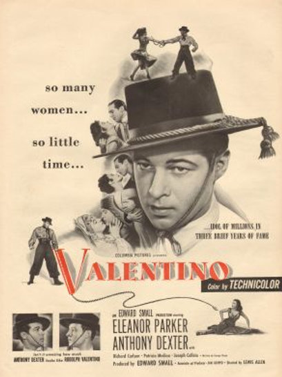 RODOLFO VALENTINO (Valentino, 1951) DVD legendado em português