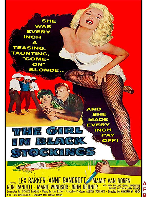 A GAROTA DAS MEIAS PRETAS (The Girl In Black Stockings, 1957)
