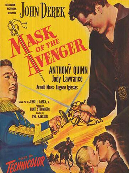 A MÁSCARA DO VINGADOR (Mask of the Avenger, 1951) DVD legendado em português