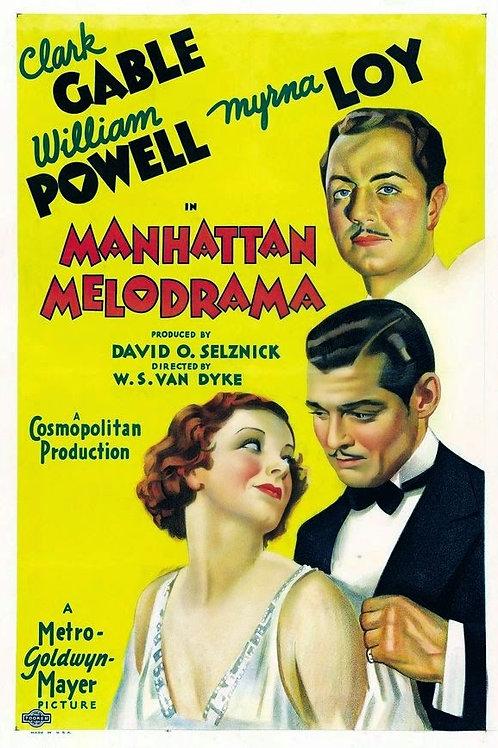 VENCIDOS PELA LEI (Manhatttan Melodrama, 1934) - DVD legendado