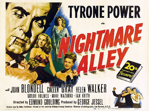 O BECO DAS ALMAS PERDIDAS (Nightmare Alley, 1947) - Legendado
