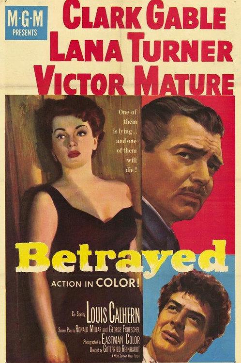 ATRAIÇOADO (Betrayed,1954) - DVD legendado em português, espanhol e francês