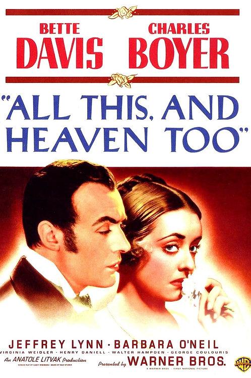 TUDO ISSO E O CÉU TAMBÉM (All This And Heaven Too, 1940) - Legendado