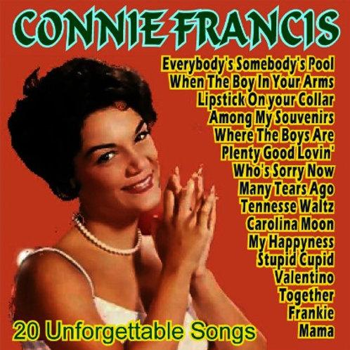 CONNIE FRANCIS-20 UNFORGETTABLE SONGS (Cd de música)