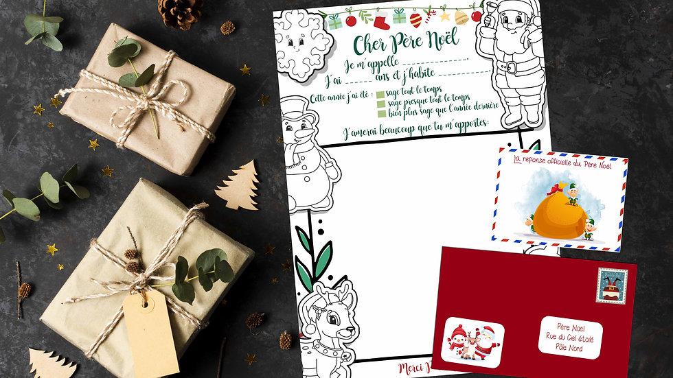 Lettre au Père Noël + Reponse