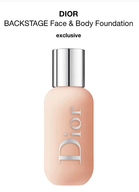 DIOR BACKSTAGE FACE &BODY 2CR 1.6oz. Box Not Included.