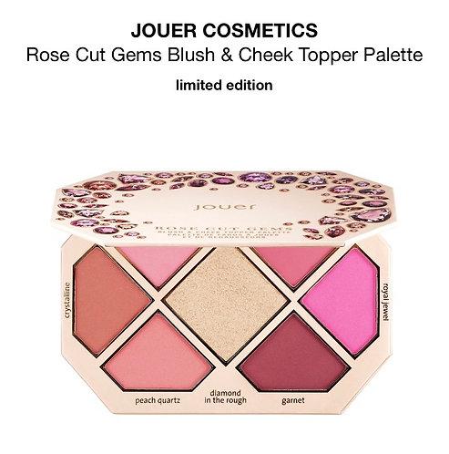 JOUER ROSE CUT GEMS Blush & Cheek Topper Palette Box with Out.