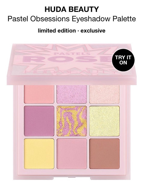 HUDA BEAUTY PASTELS ROSE PALETTE Box not Included.
