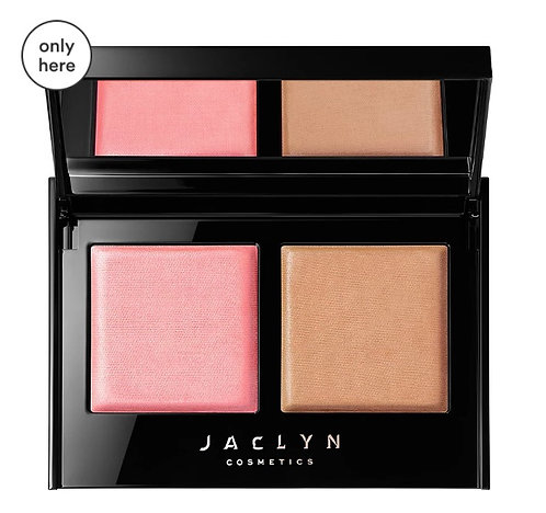 Jaclyn Cosmetics Bronze & Blushing Duo pink me/oh honey Without box