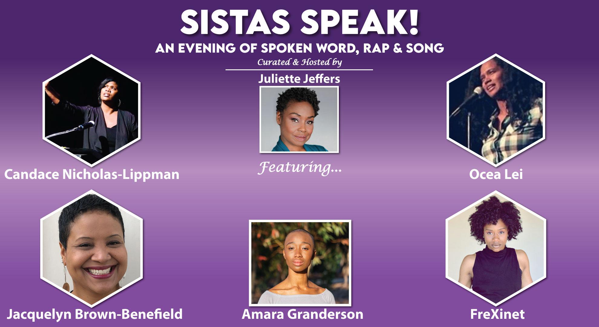 SISTAS SPEAK - Oct 10 @ 7pm PST