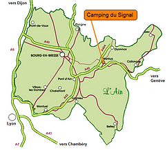 Situer Camping du Siga dans l'Ain