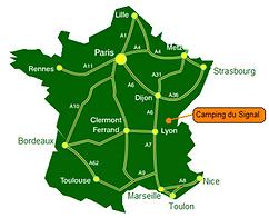 Situer Camping du Signal en France