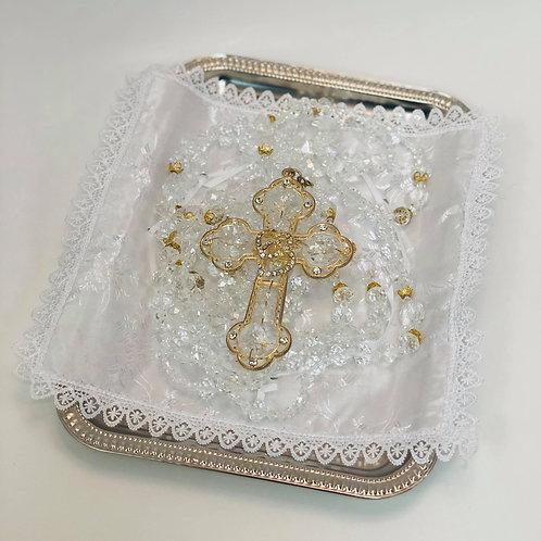 Wedding Lasso Rosary - Gold Cross with diamonds