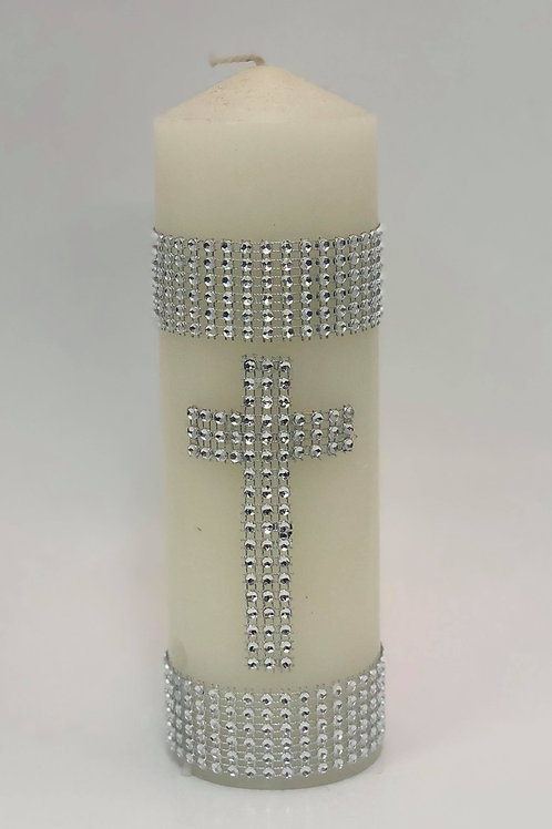Candle with cross