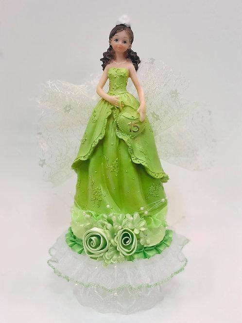 Muñeca verde limon