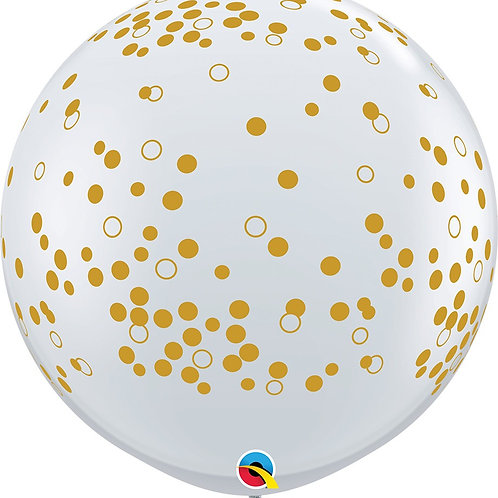 "36"" Qualatex Confetti Dots-A-Round Latex"