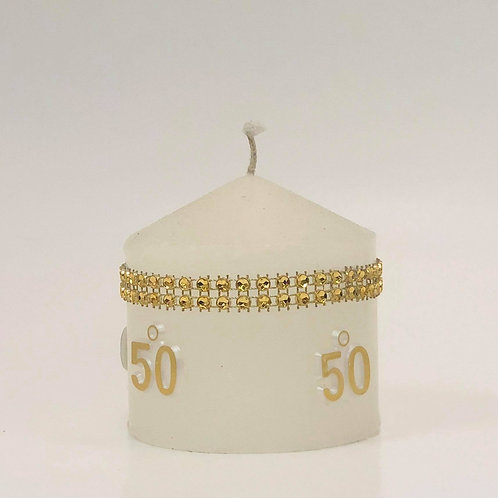 50th anniversary candel