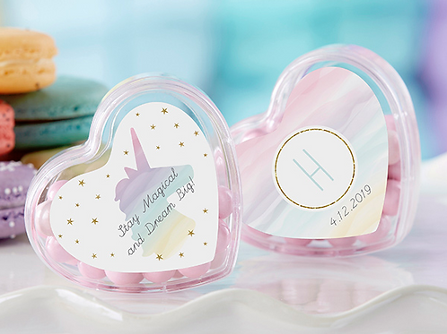 HEART FAVOR CONTAINER - ENCHANTED PARTY (SET OF 12) (PERSONALIZATION AVAILABLE)