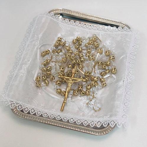 Wedding Lasso Rosary - Gold and Diamonds