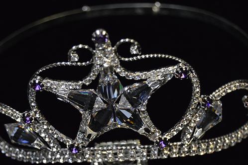 Corona Estrella de Crystal con Detalles Morados