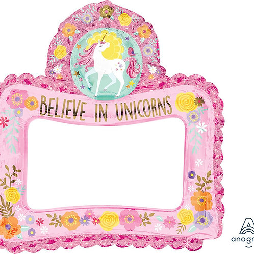 "27"" Selfie Frame Magic Unicorn Consumer Inflate"