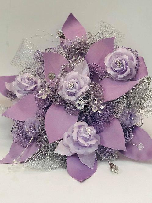 Light Purple Bouquet and Corsage Set