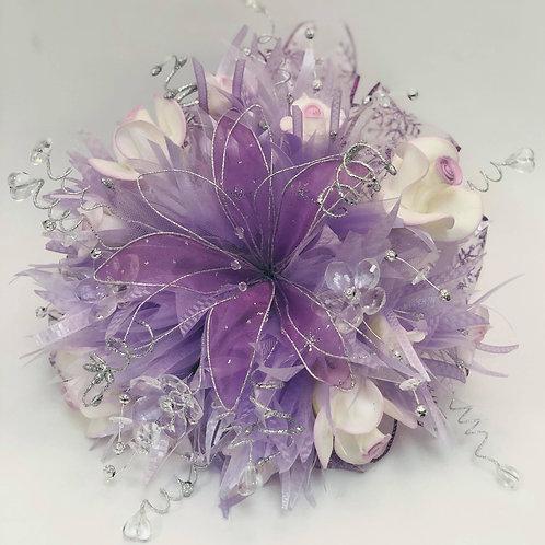 Set Bouquet and Corsage - Light Purple