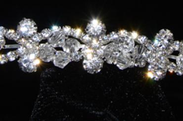 Corona Crystal y circonias de plata