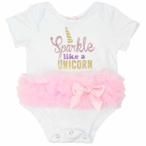 Popatu Baby Tutu Bodysuit Sparkle Unicorn