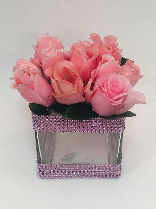 Pink Flowers Cneterpiece
