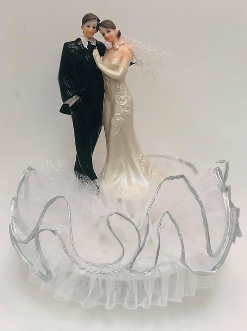 Wedding Cake Topper - Young Couple
