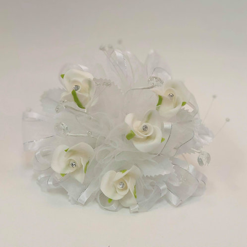 White and Light Green Bouquet - Small
