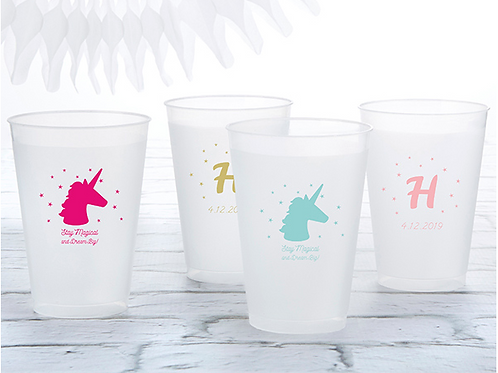 PERSONALIZED 12 OZ. FROSTED FLEX CUP - ENCHANTED PARTY