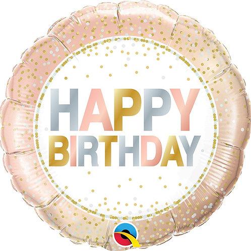"18"" Birthday Metallic Dots"