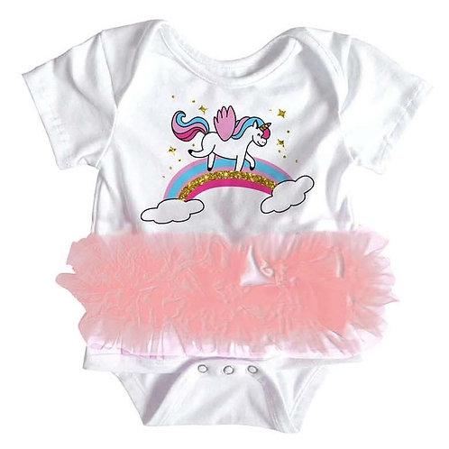 Popatu Baby Tutu Bodysuit Unicorn Sky