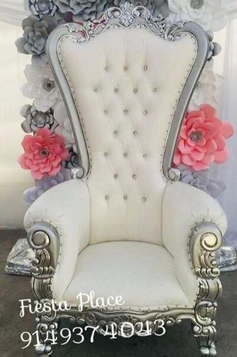 Silver Throne Chair - New