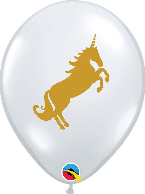 "11"" Qualatex Unicorn Latex - Clear"