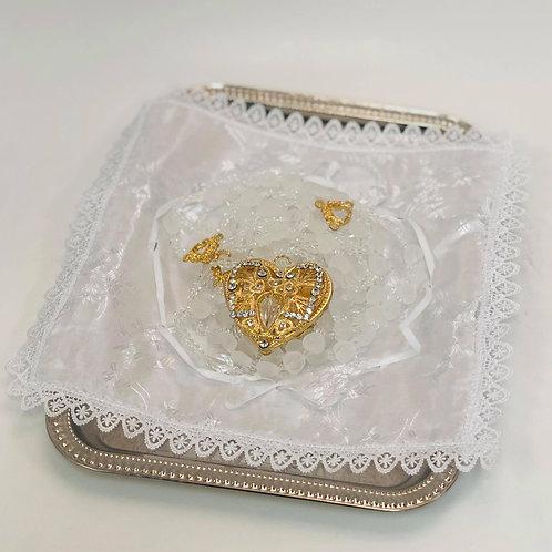 Wedding Lasso Rosary - Gold Heart