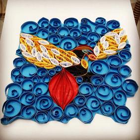 Quiiling art - Pássaro