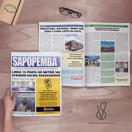Diagramação Jornal Sapopemba News