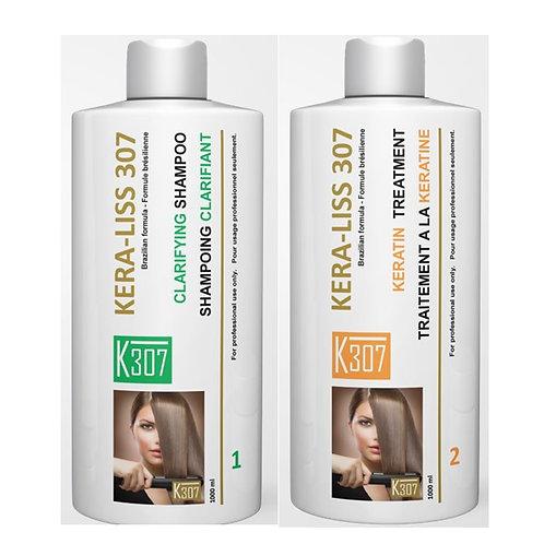 Traitement à la kératine (traitement + shampoing clarifiant)