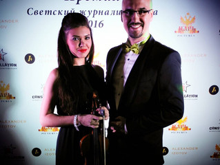 Проект NeoClassic в лице Дмитрия Янковского и Мартины Флинт на премии Светский журналист года 2016.