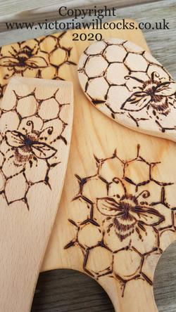 Bee Kitchen Utensils Victoria Willcocks