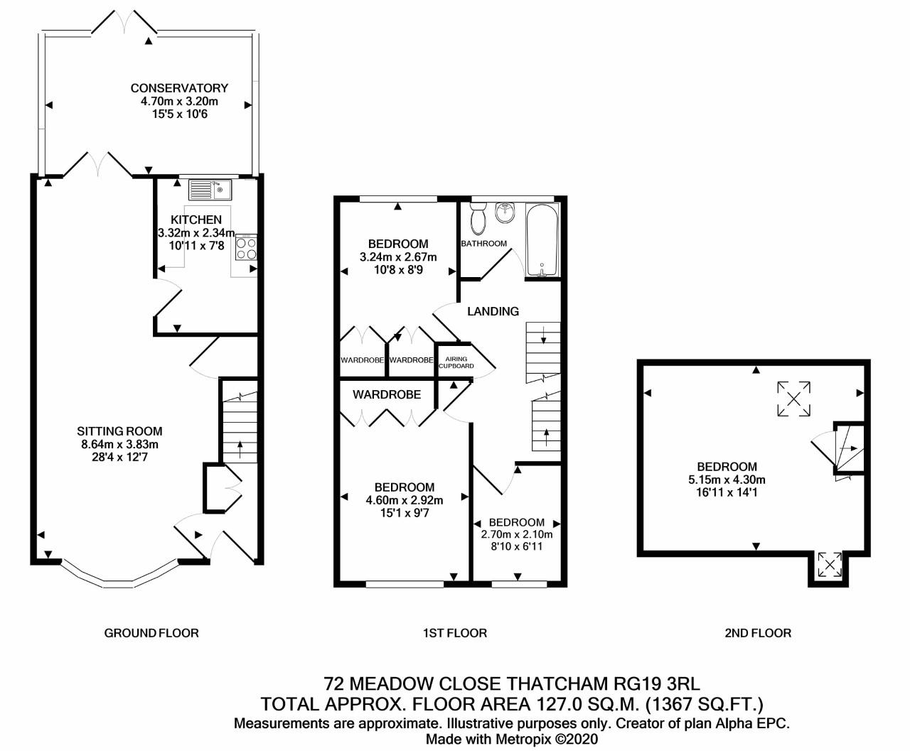 Floor Plan 72 Meadow Close