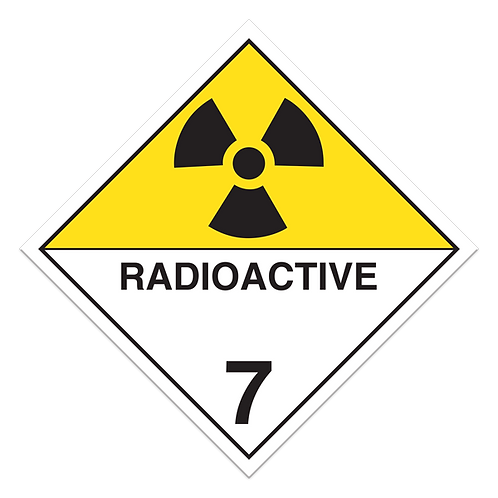 Class 7 - Radioactive Materials Truck Placards