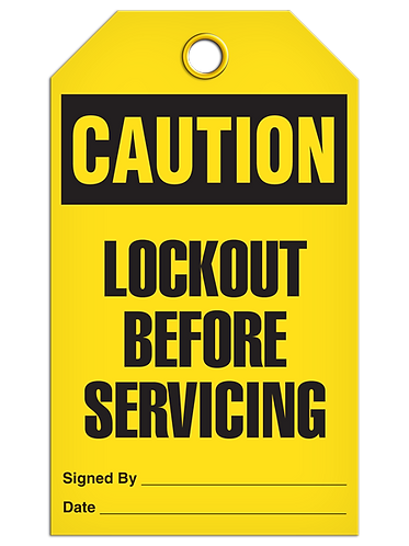 CAUTION - Lockout Before Servicing